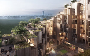 79 & Park, an incredible residential project by BIG, in Stockholm