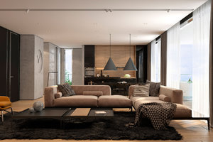 DESIGN OF CONTEMPORARY LIVING ROOM