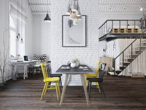 LOFT WITH SCANDINAVIAN DESIGN