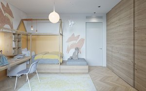 KIDS ROOM WITH FUN DESIGN