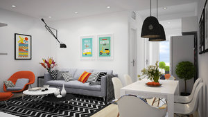 DECOR WITH TOUCHES OF BRIGHT AND MODERN COLORS