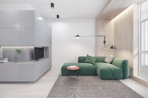APARTMENT WITH MODERN AND CREATIVE DESIGN