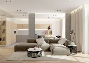 CONTEMPORARY DESIGN IN GRAY TONES