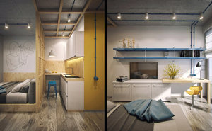 STUDENT APARTMENT WITH COMPACT DESIGN