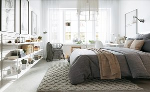 ROOM SCANDINAVIAN DESIGN IN GRAY TONES