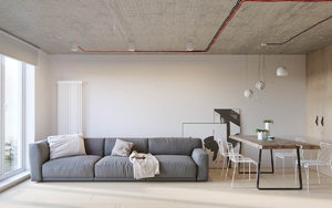 APARTMENT LINES MINIMALISM TO INDUSTRIAL DESIGN
