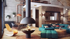 CONTEMPORARY AND CONVENTIONAL LOFT