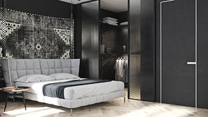 ELEGANT BEDROOM IN DARK TONES